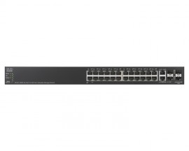 SF500-24MP 24-port 10/100 Max PoE+ Stackable Managed Switch