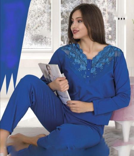 Pijama dama. Pijama dama albastra. Pijama albastra.