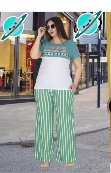 Compleu dama - bluza si pantalon - masura mare, bluza si pantaloni pentru masura 46.48