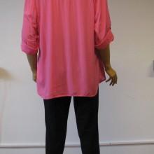 Bluza roz cu maneci ajustabile Anne