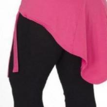 Set 3 piese - bluza roz, fusta neagra si pantalon negri SD001