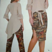 Compleu dama -3 piese, bluza, fusta, pantalon