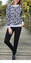 Compleu dama: bluza+pantalon vatuiti din bumbac
