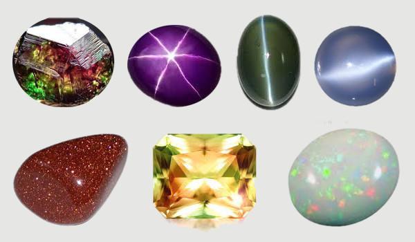 Pietrele prețioase prezintă proprietăți optice neobișnuite si extrem de spectaculoase.