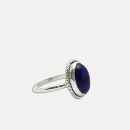inel de argint lapis lazuli