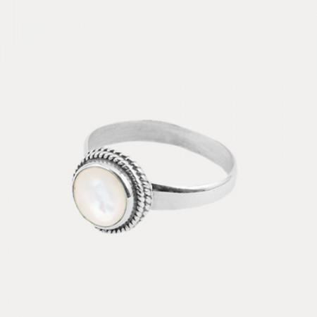 inel de argint cu sidef