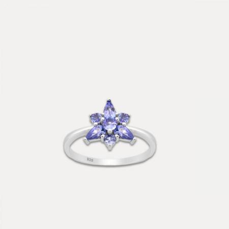 inel de argint cu tanzanit
