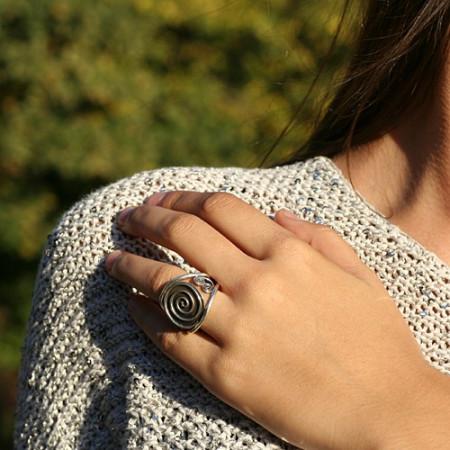 inel argint simbol spirala indian