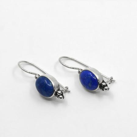 Cercei de argint cu lapis lazuli Bali