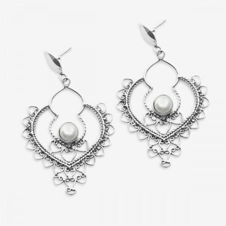 Cercei de argint 925 cu perlă veritabilă