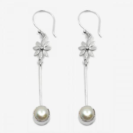 Cercei de argint cu perle Haya Bali