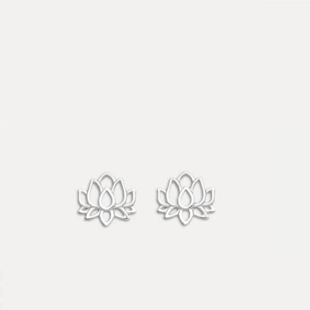 cercei de argint floare de lotus