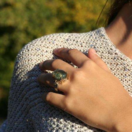 Inel de argint cu citrin Enchanting
