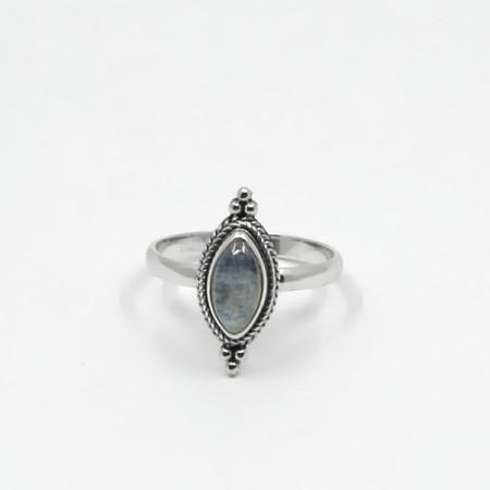 Inel de argint cu piatra lunii Bali