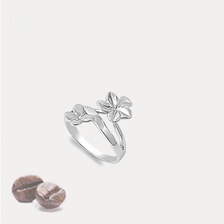 Inel de argint Flower and Butterfly