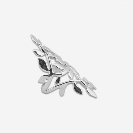 Inel artizanal din argint frunze