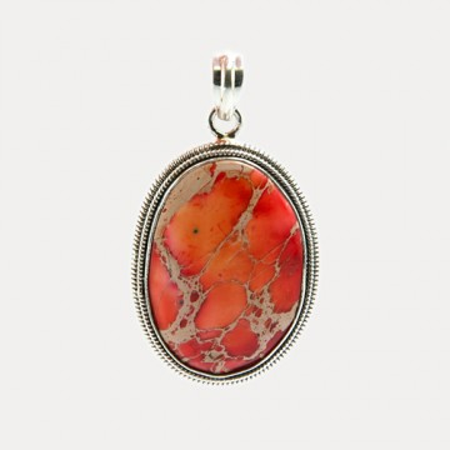 Pandantiv de argint cu coral Hot Sea