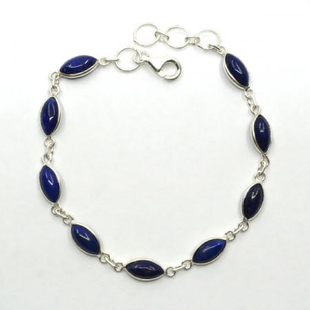 Brățară de argint cu lapis lazuli