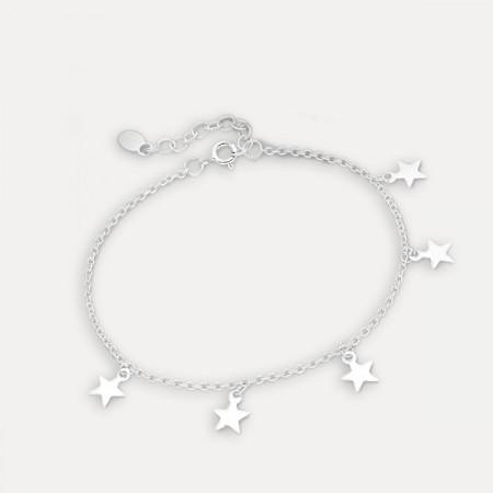 Brățara de argint cu steluțe