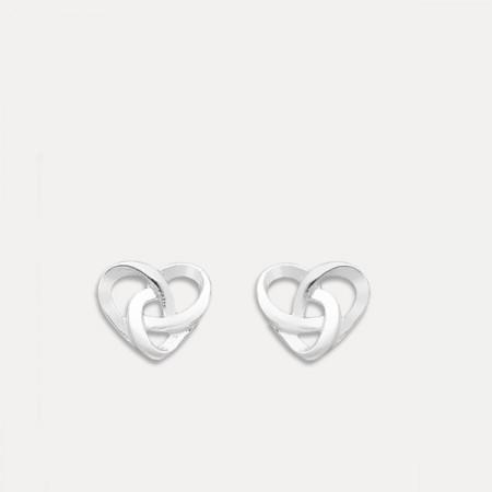 cercei argint nod celtic minimal