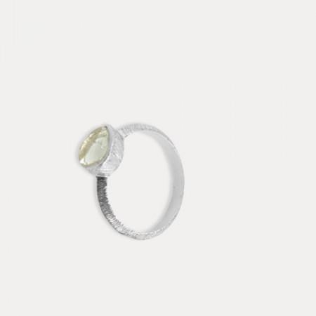 Inel de argint cu cristal Dew Drop