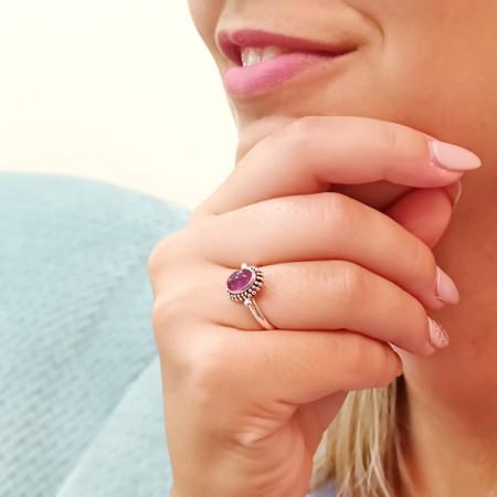 Inel argint cu turmalină
