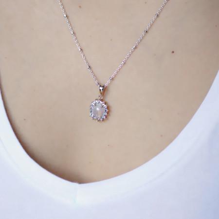 pandantiv argint cu opal și tanzanit