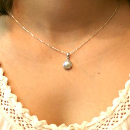 Pandantiv argint cu perlă Bali