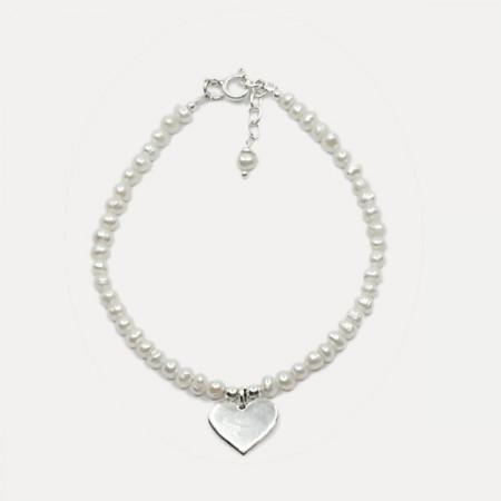 Brățara de argint cu perle Alira