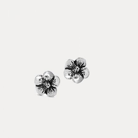 Cercei de argint Flower