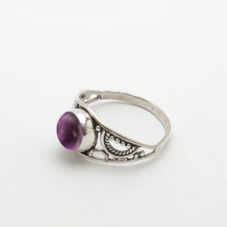 inel de argint cu ametist