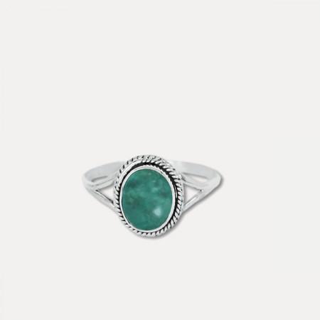inel de argint cu apatit
