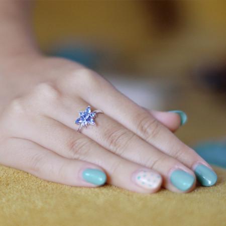 inel argint cu tanzanit