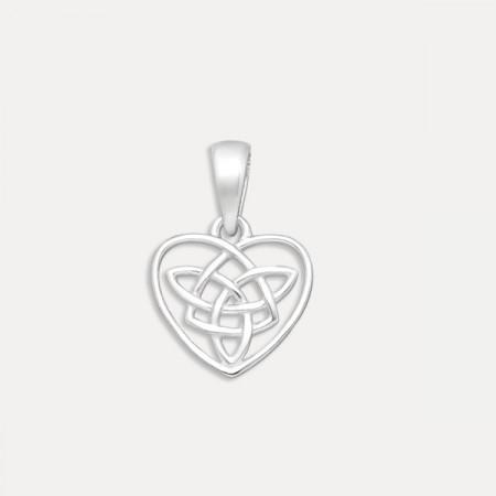 pandantiv inima argint, medalion inima