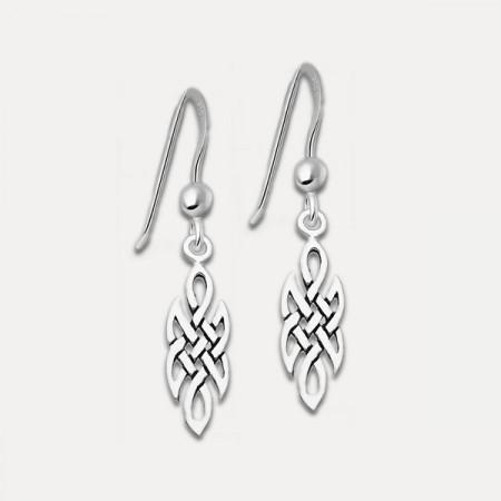 cercei de argint nod celtic