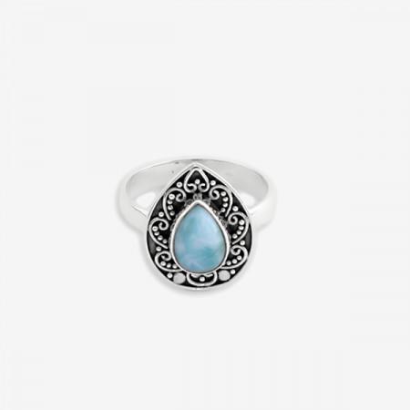 inel de argint 925 cu larimar natural