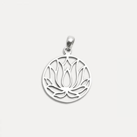 Pandantiv de argint lotus