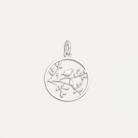 pandativ argint frunze pasare