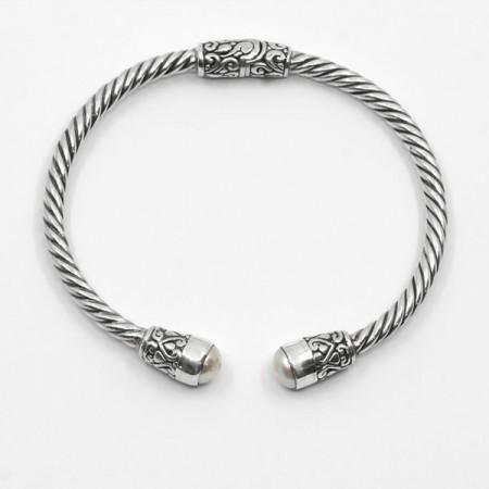Brățară de argint cu perle Bali