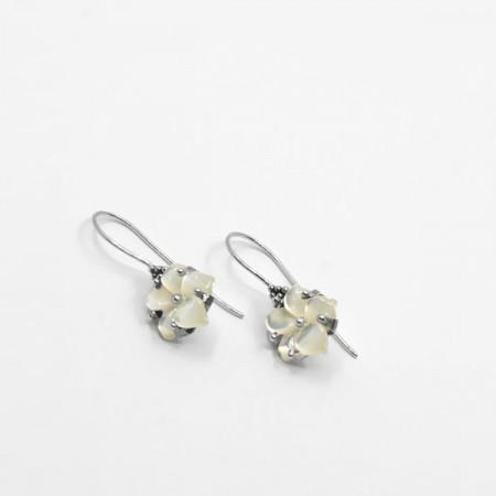 Cercei de argint cu perle Tansui