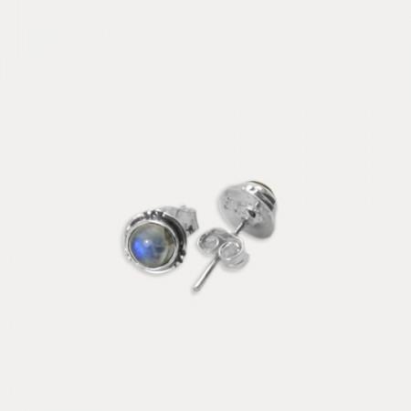 Cercei de argint cu piatra lunii Narik