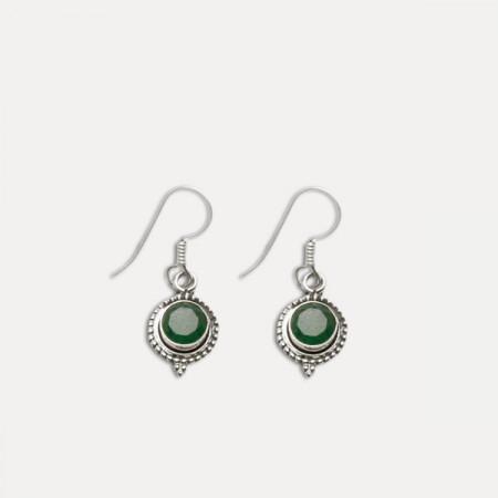 cercei argint cu smarald