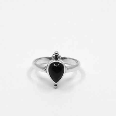 Inel de argint cu onix negru Bali