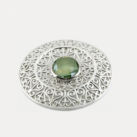 Pandantiv de argint cu ametist verde Mihi