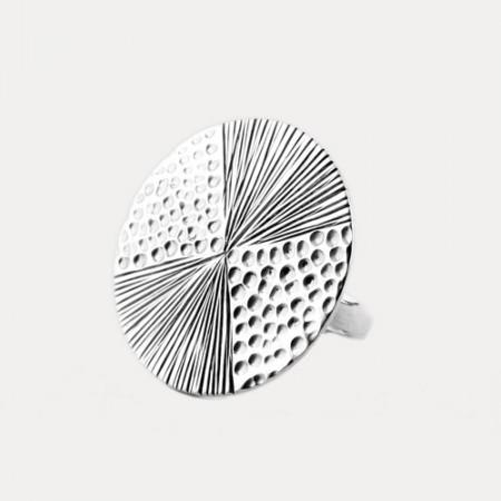 inel de argint minimalist contemporan