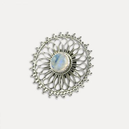 inel de argint cu piatra lunii India