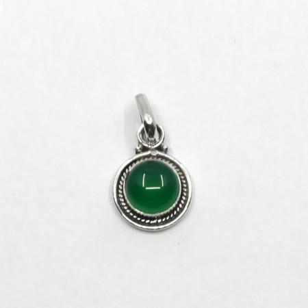 Pandantiv de argint cu onix verde