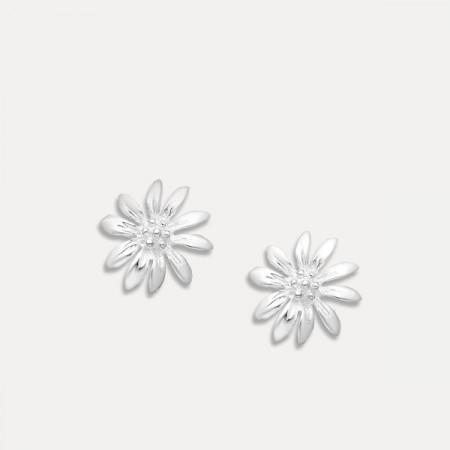 cercei de argint floare
