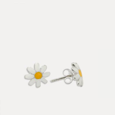 cercei argint floare margareta