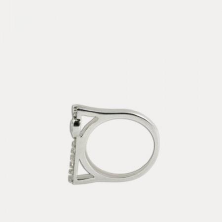 Inel de argint cu cristale zirconia si topaz Anamy